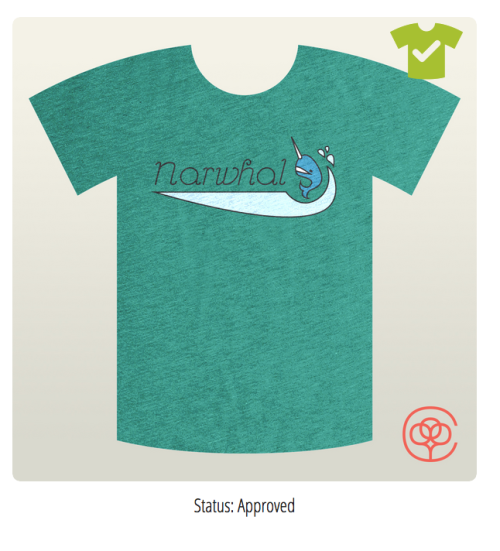 narwhal graphic design shirt